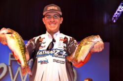 Jacob Wheeler of Indianapolis, Ind., maintained his overall lead at the Forrest Wood Cup after boasting a two-day weight of 33 pounds, 11 ounces.