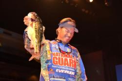 National Guard pro and defending Forrest Wood Cup champion Scott Martin now sits in third place overall heading into Saturday