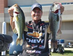 Chevy pro Bryan Thrift finished the 2012 Forrest Wood Cup in third place with 52 pounds, 4 ounces.
