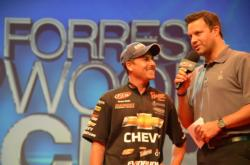 Chevy pro Bryan Thrift talks about his Cup experience with tournament host Jason Harper.