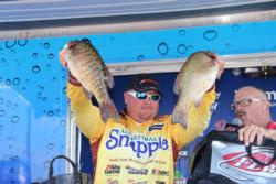 Snapple pro  Jacob Powroznik caught the heaviest bag of day three - a limit weighing 23-1.