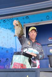 Day-two leader  Derek Strub had another solid performance, but he was just missing the 5-pound bites he had found on days one and two.