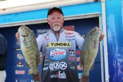 Bill McDonald sits in 4th after day one with 21-09.