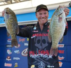 Erie specialist Joe Balog caught 22 pounds, 13 ounces to finish opening day second, one ounce off the lead in the Pro Division.