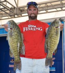 Spencer Shuffield caught a 21-pound, 8-ounce stringer from Lake St. Clair Thursday.