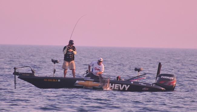 Larry Nixon got his day three started with a bang with back-to-back big ones.
