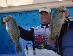 Co-angler Clayton Batts caught a 20-pound, 3-ounce limit Saturday and finished the tournament in fifth place.