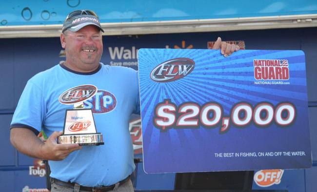 For winning the FLW Tour Open on Lake Erie and Lake St. Clair, co-angler Dave Hasty earned $20,000.