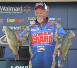 Bill McDonald slipped to second after catching a limit worth 17 pounds, 7 ounces on day three.