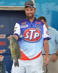 Spencer Shuffield fell to fourth after catching a 14-pound, 13-ounce stringer Sunday.