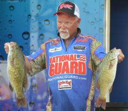 Pro Bill McDonald finished second with a total of weight of 78 pounds, 10 ounces.