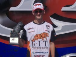 Co-angler Jordon Davis of De Kalb Junction, N.Y., won the Aug. 25 Northeast Division event on 1000 Islands with a total weight of 19 pounds, 4 ounces. He was awarded nearly $1,500 in tournament winnings.