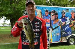 Pro William Kramer of North Potomac, Md., tied for sixth place overall after the first day of Potomac River competition.