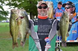 Russ Hamilton, Jr., of Manassas, Va., grabbed the top spot in the Co-angler Division after boating an impressive 15-pound, 10-ounce catch.