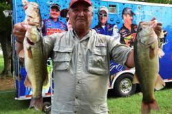 Co-angler Kermit Crowder of Matoaca, Va., finished the day in second place.