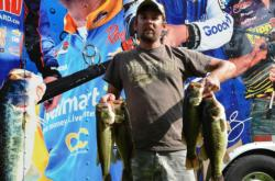 Co-angler Brian Peak of Wytheville, Va., found himself in fourth place overall with a total catch of 13 pounds, 6 ounces.