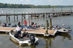 Anglers get ready for weigh-in at Smallwood State Park marina.