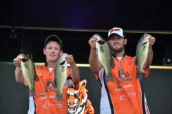 The Huff cousins keep Georgetown in contention with a two-day total of 23 pounds, 5 ounces. That is good enough to put them in third place.