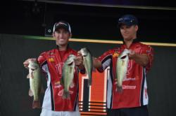 Dustin Vaal and Steven Bressler hang on to make the cut to fish on the final day with a two-day total weight of 22 pounds, 12 ounces.