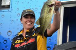 EverStart pro Christiana Bradley of Bealeton, Va., the only woman in the tournament, finished the EverStart Series Potomac River event in eighth place.