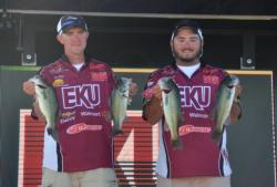 John Smith and Kyle Raymer brought 10 pounds, 15 ounces to the scales on day three to take third place.