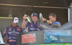 Cade Laufenberg and Sam Schollmeier managed only three fish on the final day and fell to fourth.