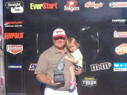 Co-angler Scott Curvin of Jacksonville, Ala., won the final Bama Division event of the season on Pickwick Lake with a two-day total weight of 28 pounds, 3 ounces. Along with the trophy, Curvin also took a check worth just under $2,600.
