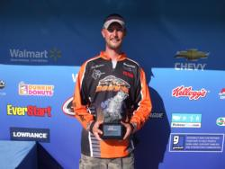 Co-angler Pete Mathews of Shawnee, Kan., won the Ozark Division event on Lake of the Ozarks with a two-day total weight of 22 pounds, 5 ounces. Mathews earned over $2,800 for winning the final event of the season.