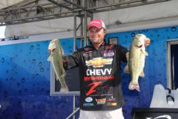 Chevy pro  Luke Clausen had three quality bass, but couldn