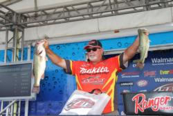 When his shallow bite fizzled,  fourth-place pro Michael Williamson moved out to deeper lily pads.