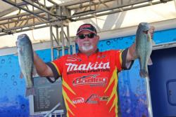 Fifth-place pro Michael Williamson caught his day-three fish on a Spro frog and a wacky worm.