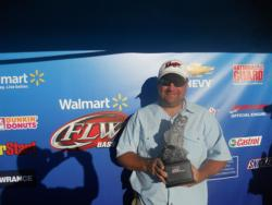 Co-angler Bryan Cothran of Belton, S.C., won the Sept. 22-23 Savannah River Division Super Tournament on Lake Hartwell with a total weight of 22 pounds, 6 ounces. He took home nearly $2,800 in winnings for his victory.