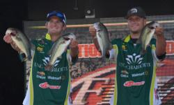 The UNC Charlotte team of Shane Lehew and Adam Waters caught a 10-pound, 13-ounce limit Thursday.