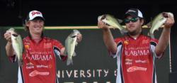 The Alabama team of Dustin Connell and Logan Johnson caught a 9-pound, 15-ounce stringer on day two to move into second place.