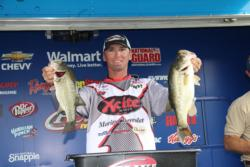 A squarebill crankbait was the hot bait for third-place pro  Brian Clark.