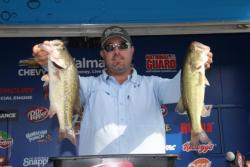 Holding steady at fourth,  Kris Wilson used a mix of cranking and flipping to catch his limit.