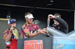 The University of Louisiana-Monroe team that made it to the final round of Paul Clark and Brett Preuett, captured second place with a three-day total weight of 43 pounds, 10 ounces.