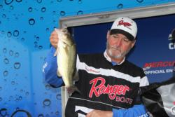 Waco, Texas co-angler  David Underwood slipped two notches to finish fourth.