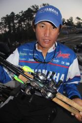 Yamaha pro Takahiro Omori intends to do a lot of cranking today.