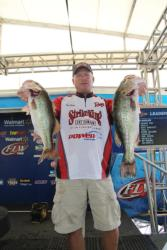 Strike King pro Phil Marks caught all of his fish cranking offshore.