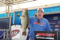 Co-angler leader Clint Farris caught the day