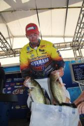 Keith Combs said the key to finding fish was hitting a lot of spots and not camping on any of them.