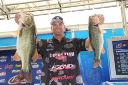 After sacking up the heaviest limit of the first two days, Todd Castledine gained 22 spots to take second place.