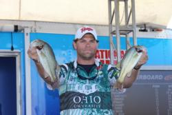 Former National Guard College Fishing  competitor  Wilson Burton moved up three spots to finish third.