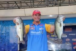 Second-place pro Keith Combs caught his biggest bag - 17-5 - on day four.