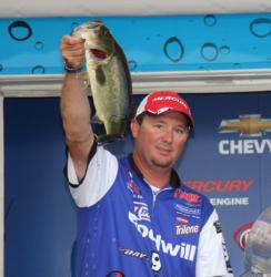 Flipping shallow grass put Goodwill pro  Chad Grigsby in fifth place.