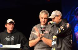 On the other end of the tie for fourth sits Chevy pro Jason Przekurat and co-angler Dale Janota with 5 pounds, 7 ounces.