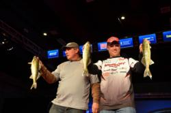 Danny Plautz of Madison, Wis., brought in three fish that weighed 5 pounds, 12 ounces to drop down to second.