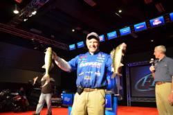 Evinrude pro Chris Gilman climbed into fourth place with four fish that hit the scales at 6 pounds, 3 ounces.