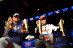 Mercury pro Ed Stachowski of Canton, Mich., rounds out the top spots on day two sitting with a total weight of 9 pounds.